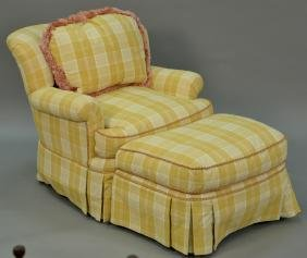 Pearson upholstered easy chair and ottoman, very clean.