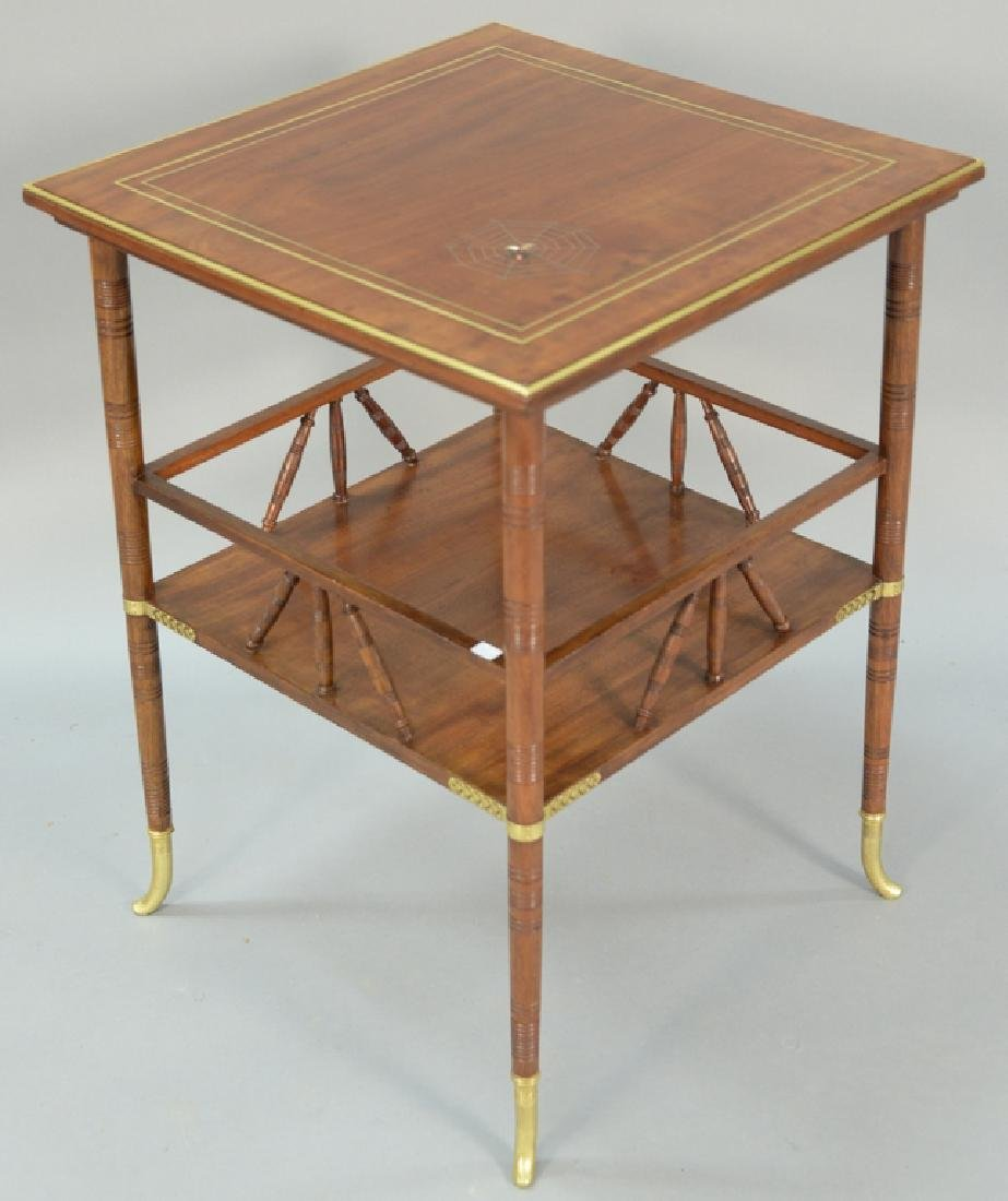 A. and H. Lejambre table, top with metalwork spider