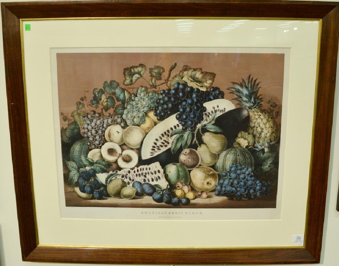 "Currier & Ives handcolored lithograph ""American Fruit"