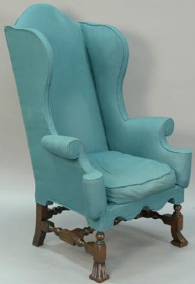William and Mary style upholstered armchair with