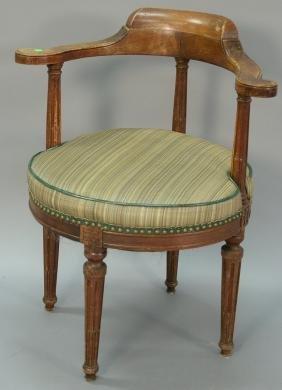 Louis XVI style mahogany corner chair.
