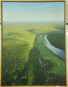 Jay Brooks (20th century) oil on canvas Aerial View
