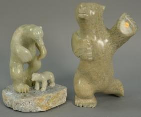 Two Inuit Eskimo figural carvings including Kimmirut