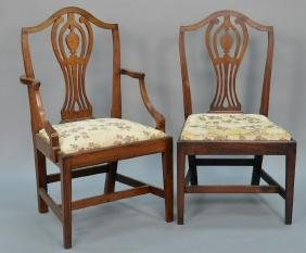 Set of six Federal mahogany dining chairs each with CT