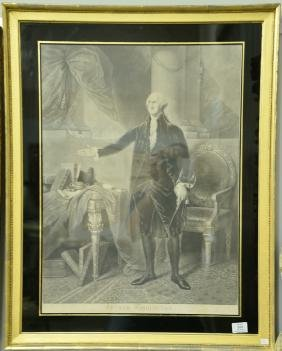 Pair of Washington engravings William Waner (1813-1848)