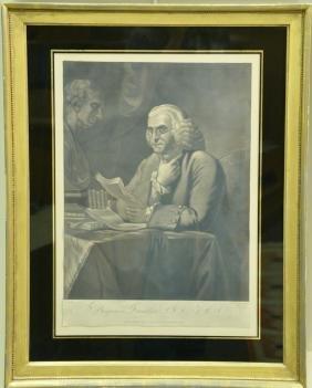 Pair of mezzotints including George Washington,