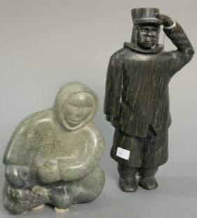 Two Inuit Eskimo figural carvings including Cape Dorset