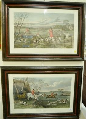 Pair of Edward Gilbert Hester (1843-1903) hand colored