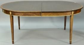 Stickley Federal style oval mahogany dining table with