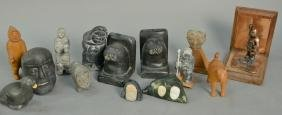 Group of fifteen Inuit Eskimo carvings by various