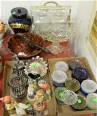 Group lot to include tantalus with 2 crystal bottles