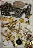 Lot of gold Victorian jewelry and silver over 80