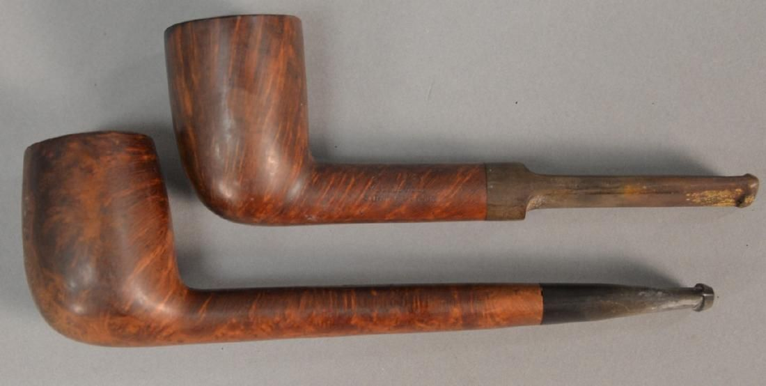 Two Barlings ye Olde Wood tobacco pipes including