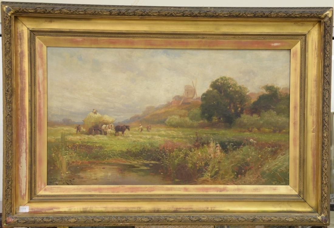 John Horace Hooper (1851-1906), oil on canvas, Haying