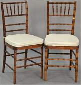 Set of six faux bamboo side chairs Provenance From an