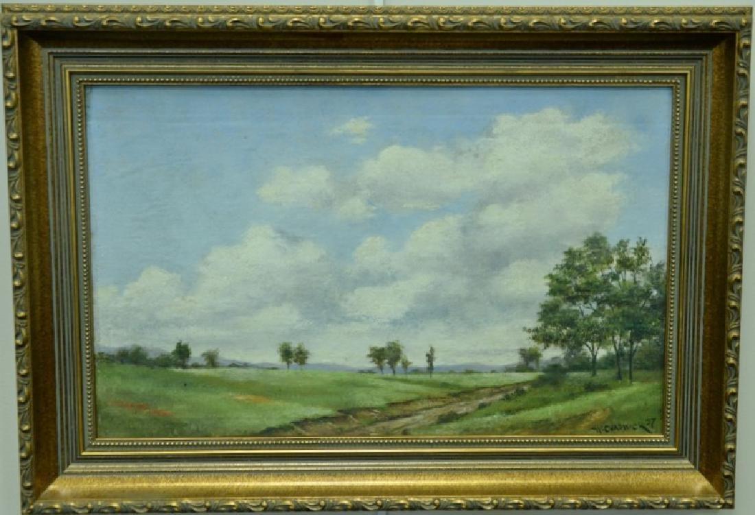 William Chadwick (1879-1962), oil on board, landscape