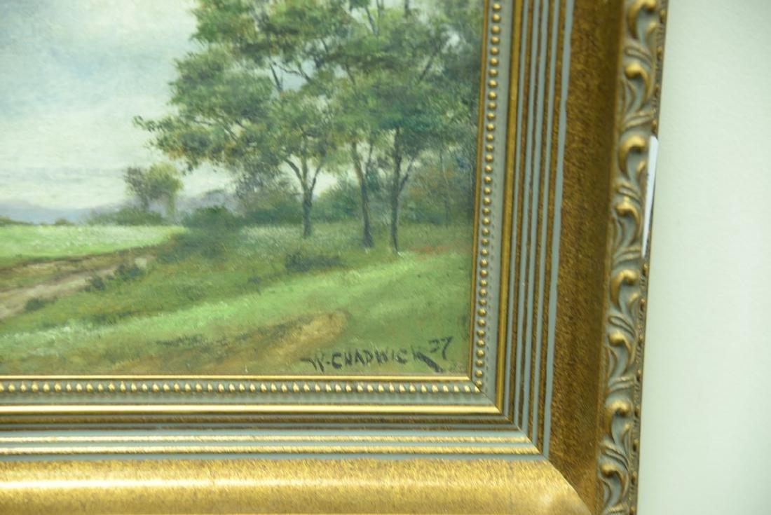 William Chadwick (1879-1962), oil on board, landscape - 5