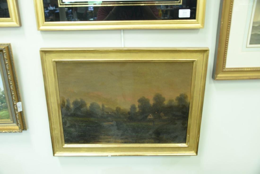 19th century oil on canvas, Sunset Night, signed - 4