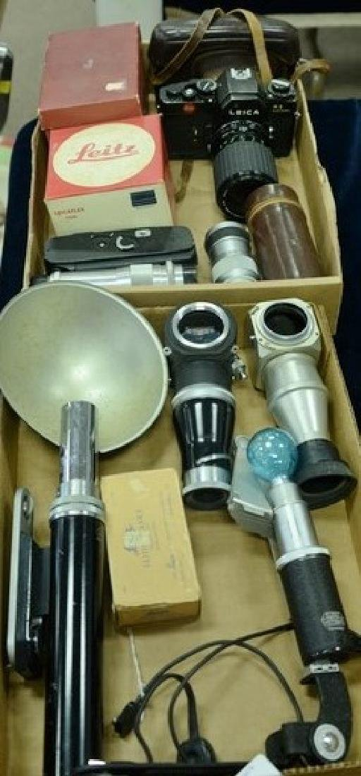 Two box lots: Camera group lot to include E. Leitz fan
