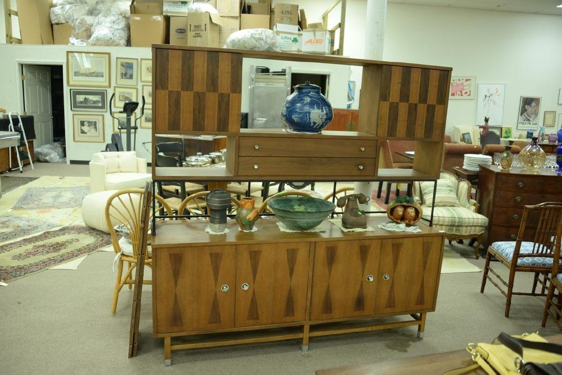 Danish style sideboard by Stanley with patterned - 2