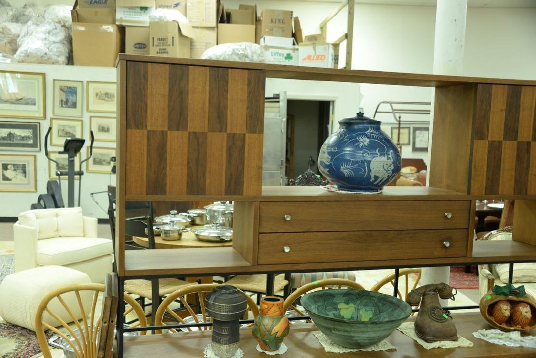 Danish style sideboard by Stanley with patterned - 4