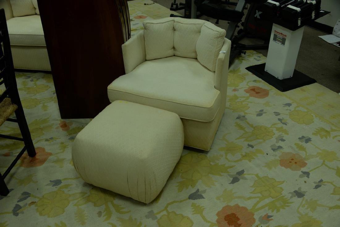 Pair of Harvey Probber style Mid-Century swivel chairs - 2