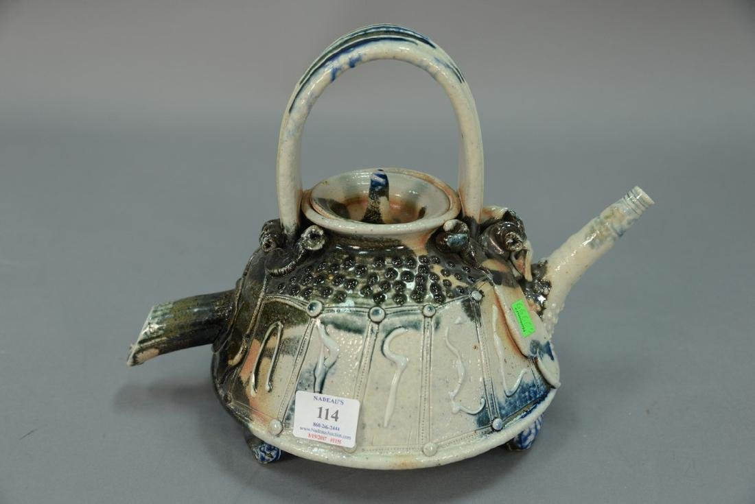 William Warehall ceramic teapot on duck head feet. ht. - 3