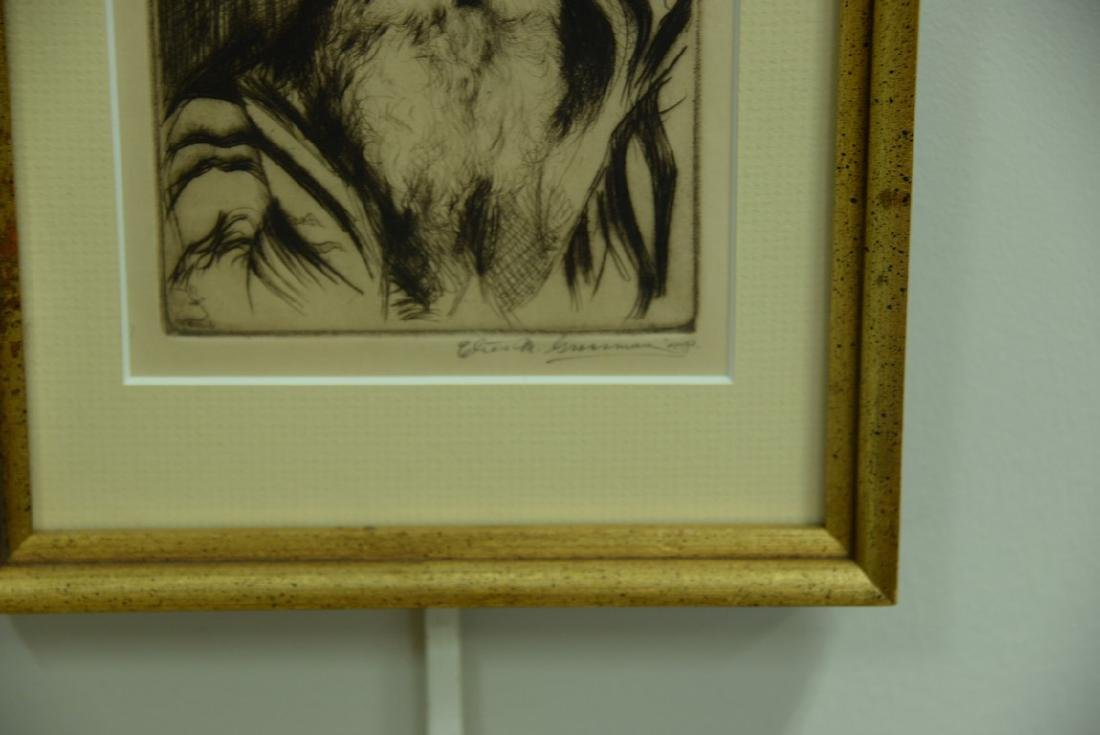 Group of five framed lithographs and etchings to - 10