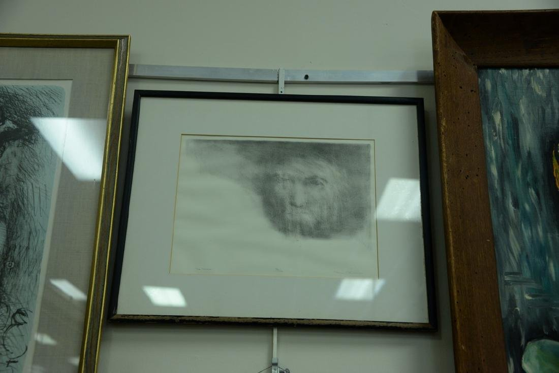 Group of five framed lithographs and etchings to - 2