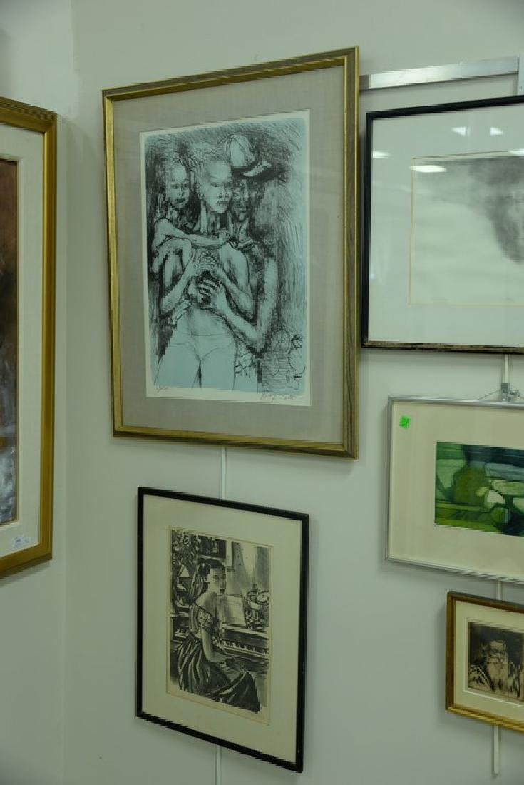 Group of five framed lithographs and etchings to - 3