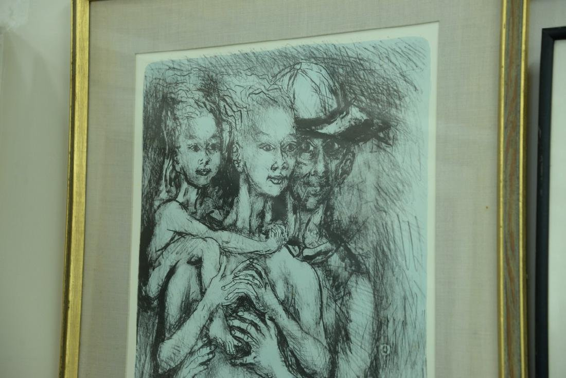 Group of five framed lithographs and etchings to - 4