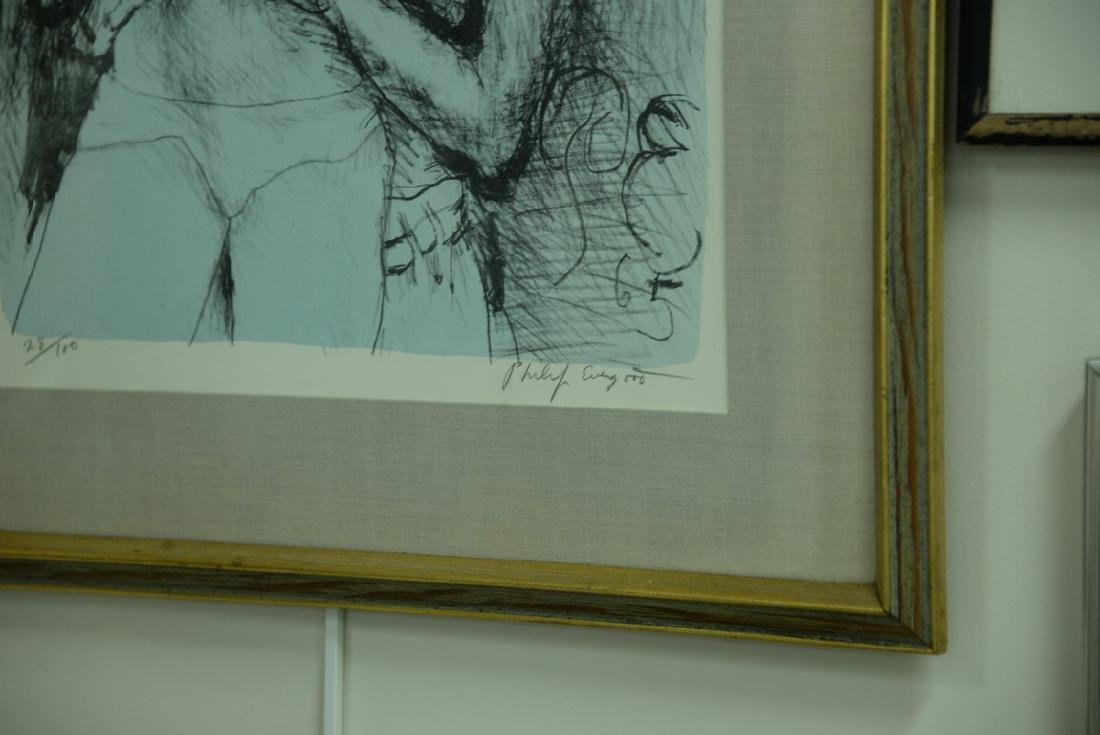 Group of five framed lithographs and etchings to - 5