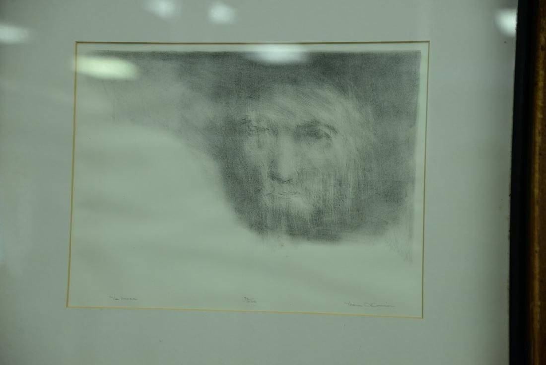 Group of five framed lithographs and etchings to - 6