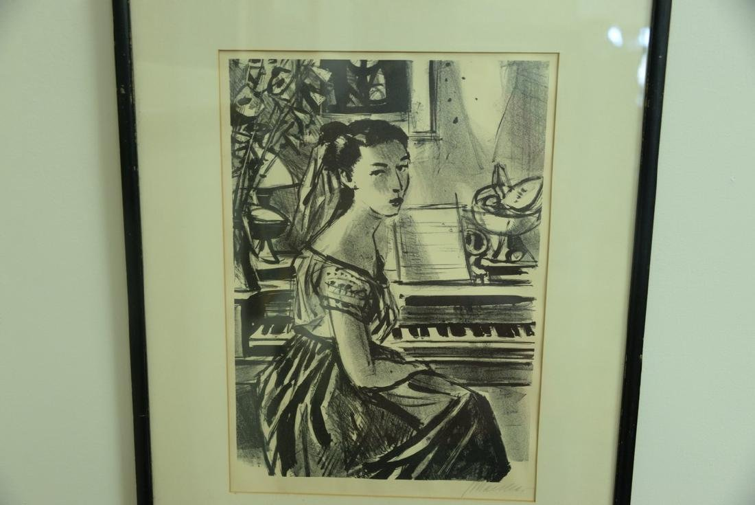 Group of five framed lithographs and etchings to - 7