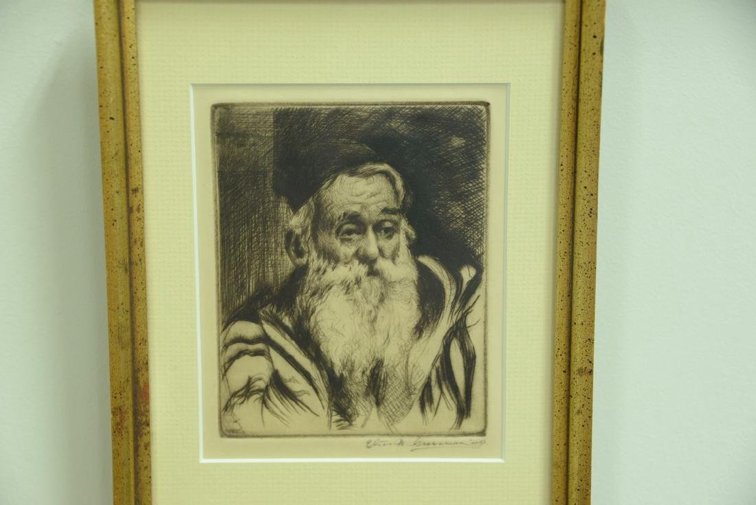 Group of five framed lithographs and etchings to - 9