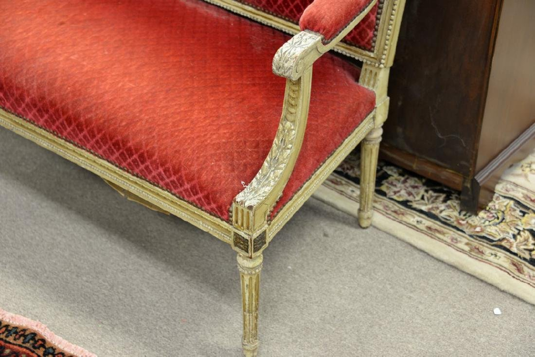 Two piece lot to include Louis XVI French style settee - 3