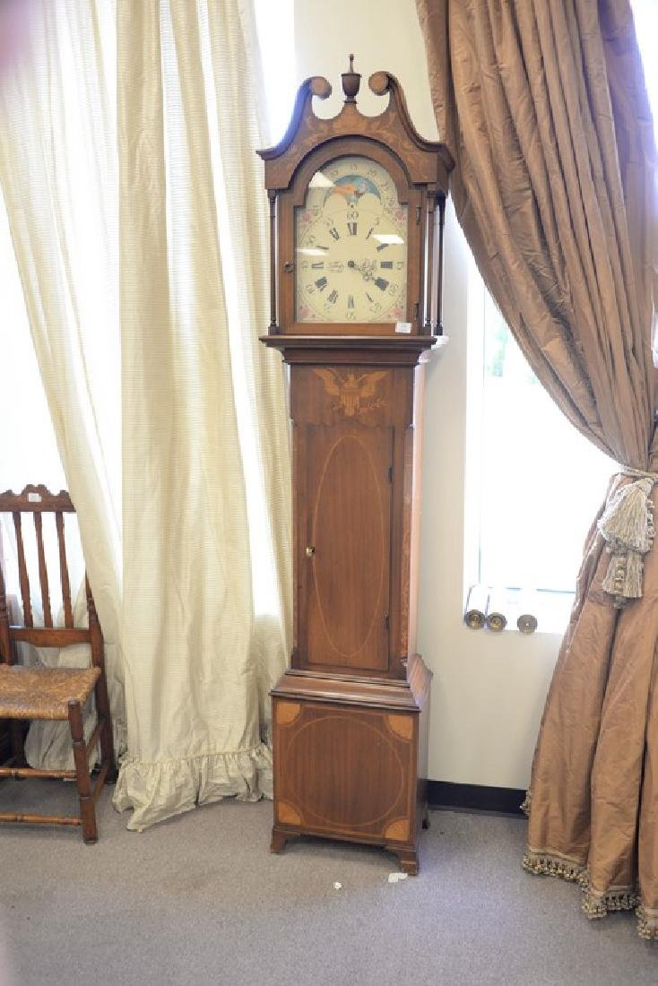 Henry Ford Museum tall case clock with brass works, - 2