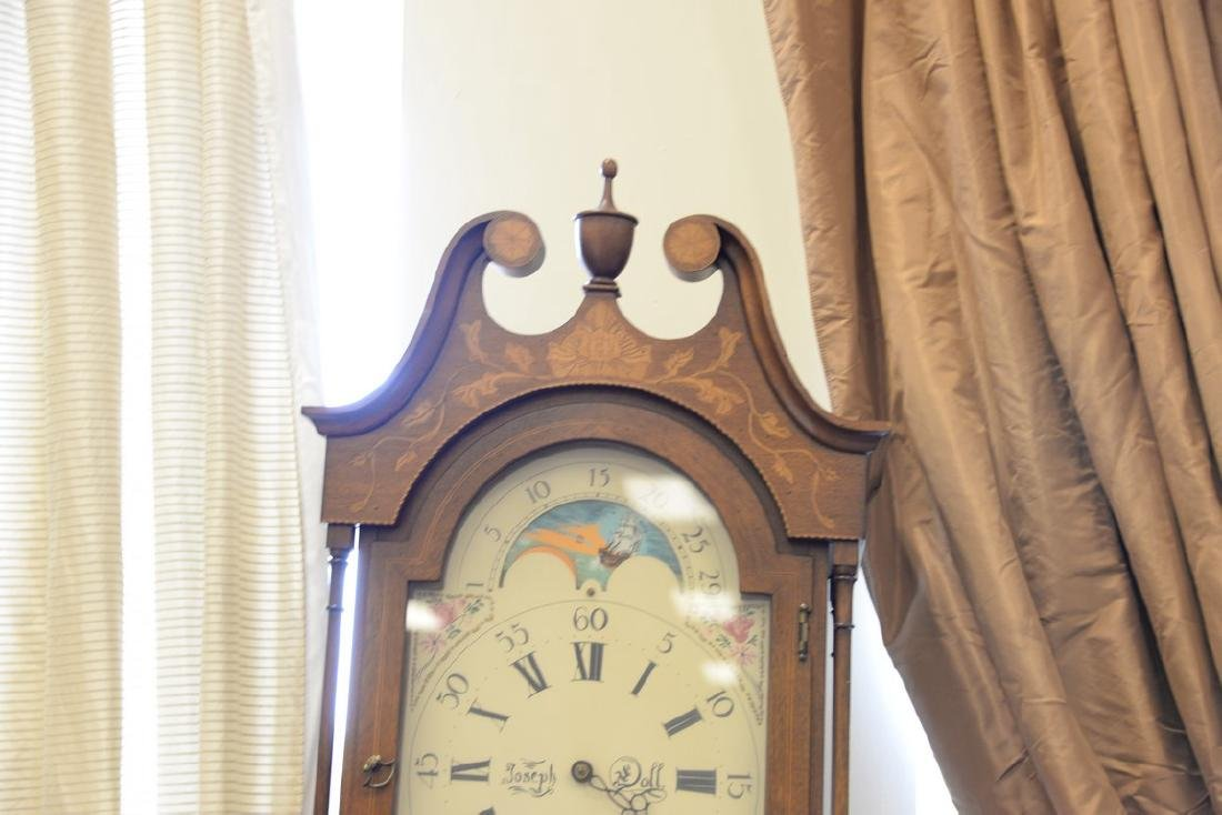 Henry Ford Museum tall case clock with brass works, - 3