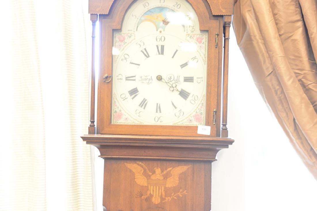 Henry Ford Museum tall case clock with brass works, - 4