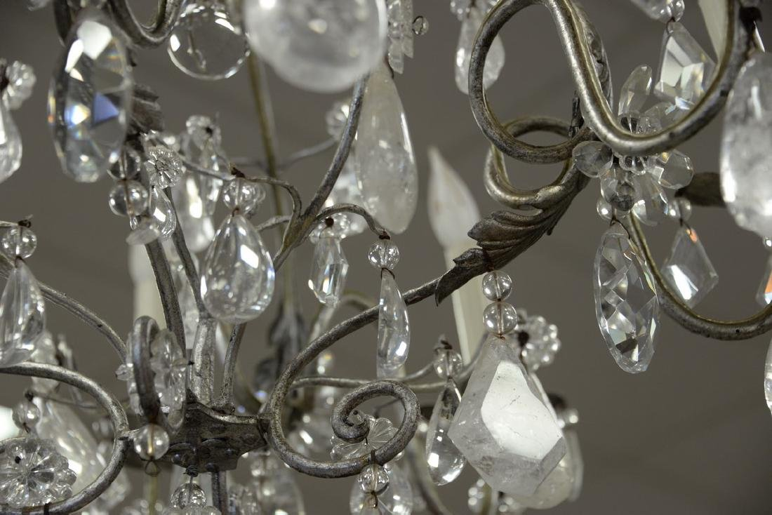 Eight light chandelier having rock crystal and crystal - 2