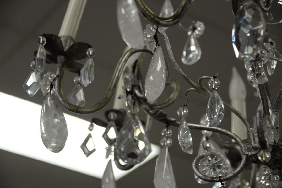 Eight light chandelier having rock crystal and crystal - 3