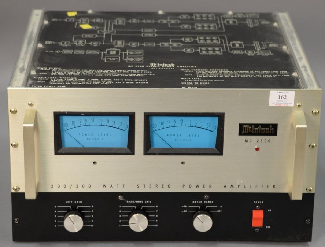 McIntosh MC2300 300/300 watt stereo power amplifier.