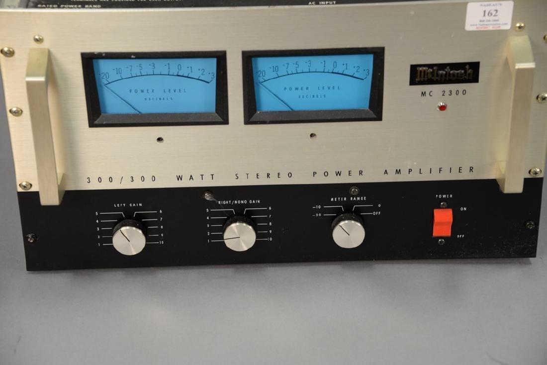 McIntosh MC2300 300/300 watt stereo power amplifier. - 2