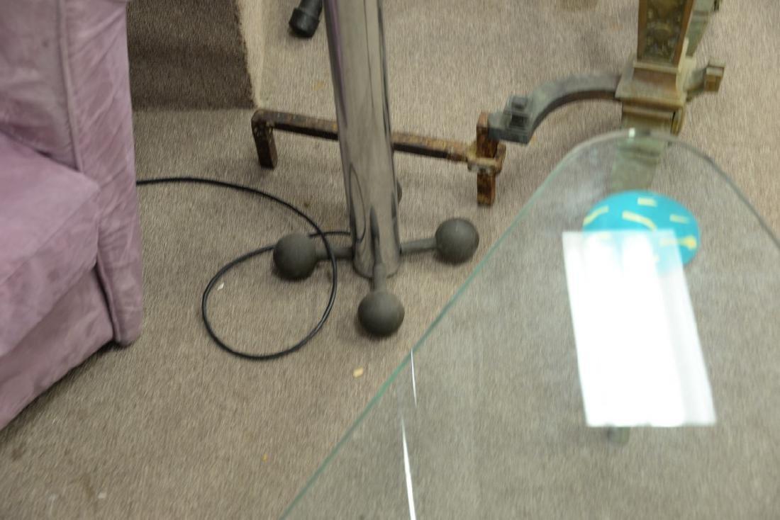 Chrome torchiere high intensity 1980's floor lamp. ht. - 3