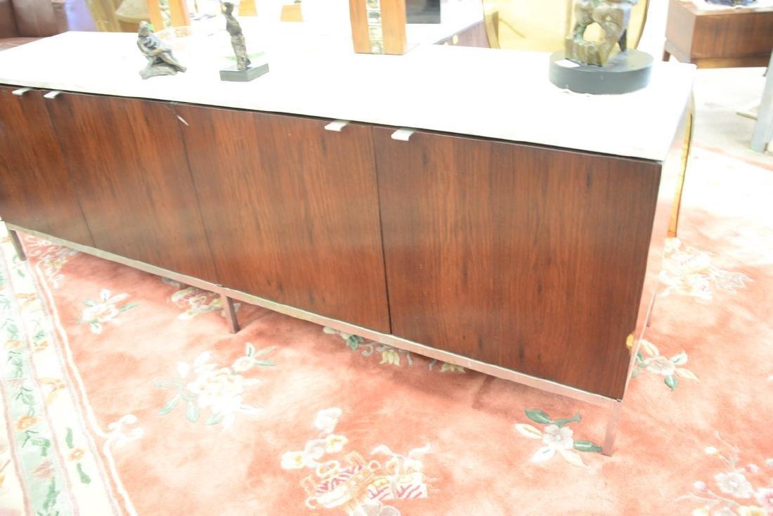 Knoll marble top rosewood credenza (veneer loss). ht. - 3