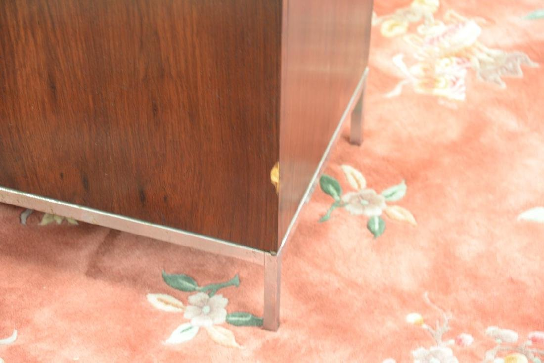 Knoll marble top rosewood credenza (veneer loss). ht. - 4