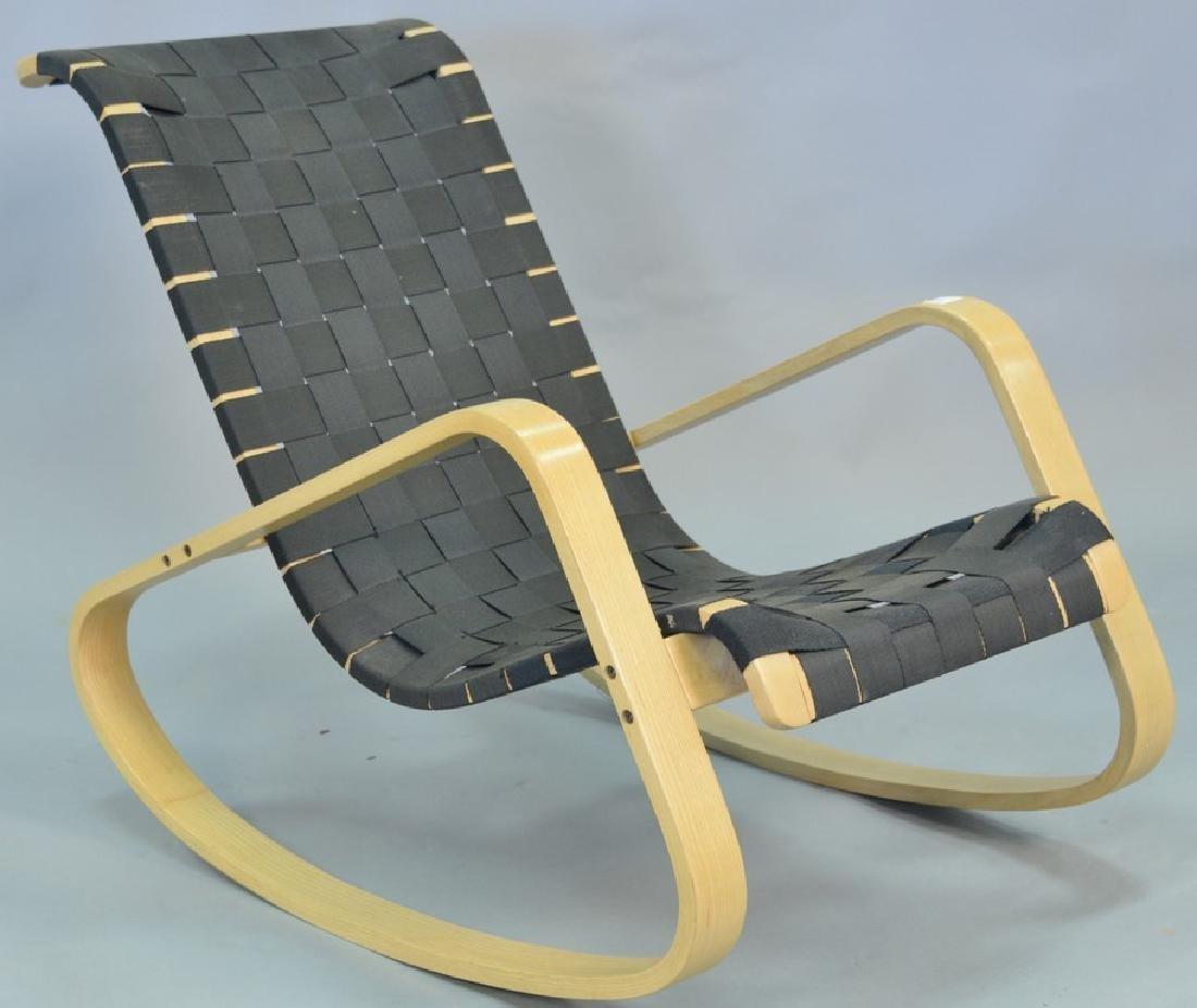 Luigi Crassevig Dondolo Bentwood rocking chair, stamped