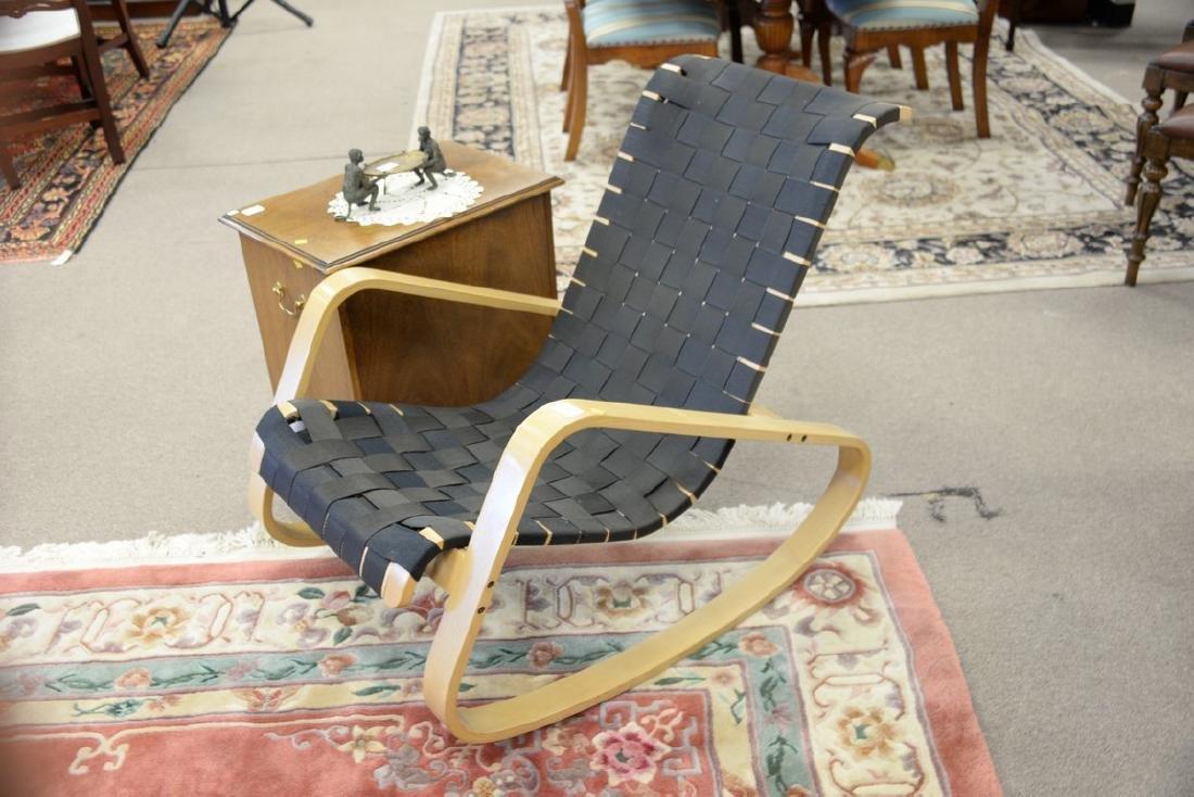 Luigi Crassevig Dondolo Bentwood rocking chair, stamped - 2