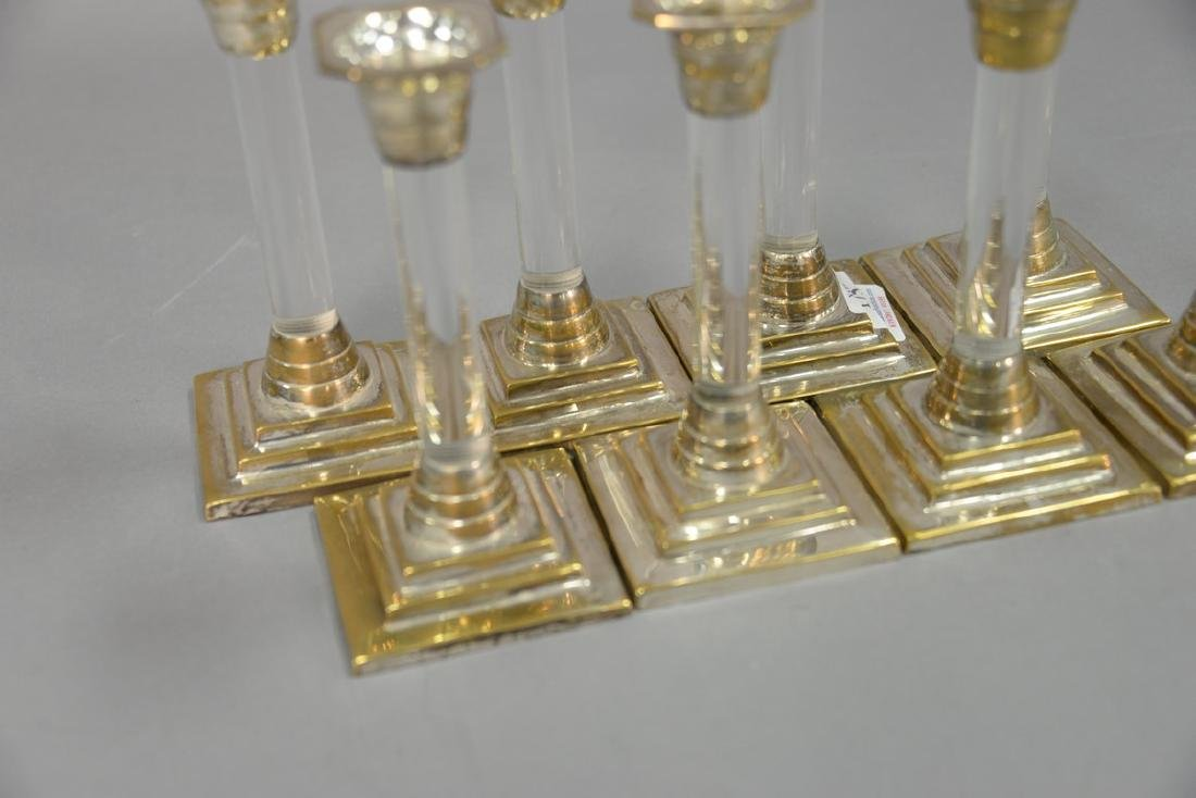 Set of eight Mid-Century silver and lucite - 2