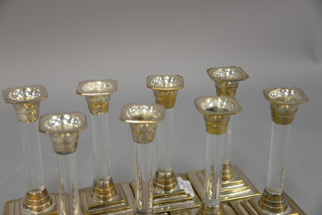 Set of eight Mid-Century silver and lucite - 3